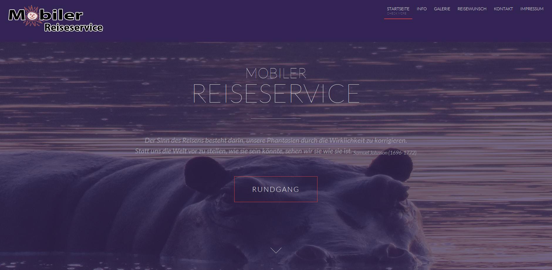 Relaunch Mobiler Reiseservice – Barbara Rempfer