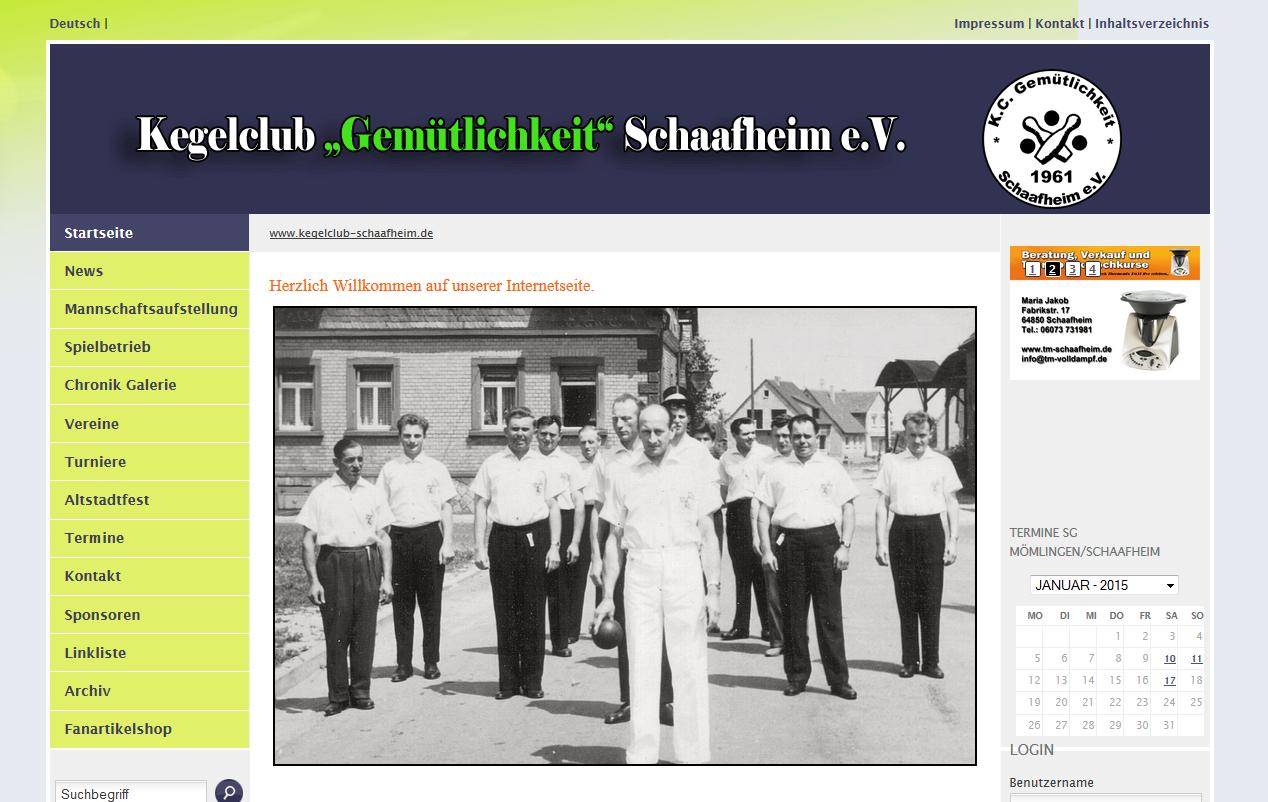 Kegelclub Gemütlichkeit Schaafheim e.V